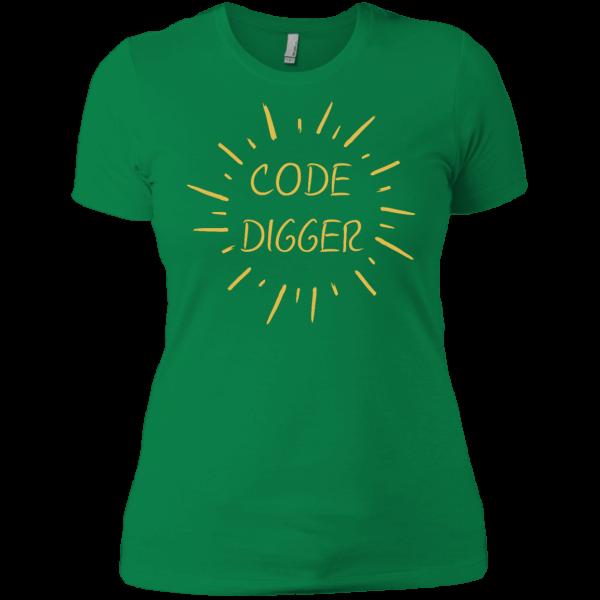 Code digger (ladies) - Programming Tshirt, Hoodie, Longsleeve, Caps, Case - Tee++