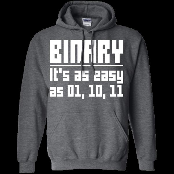 Binary is easy (old) - Programming Tshirt, Hoodie, Longsleeve, Caps, Case - Tee++