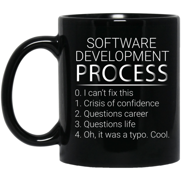 Development Process (mug) - Programming Tshirt, Hoodie, Longsleeve, Caps, Case - Tee++