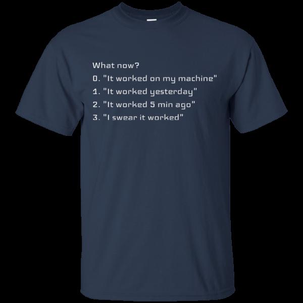 What now? - Programming Tshirt, Hoodie, Longsleeve, Caps, Case - Tee++