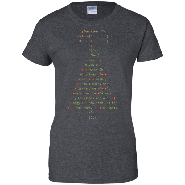 Christmas Tree (ladies) - Programming Tshirt, Hoodie, Longsleeve, Caps, Case - Tee++