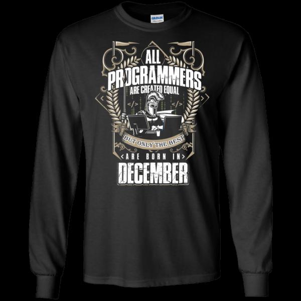 Best Programmers (December) - Programming Tshirt, Hoodie, Longsleeve, Caps, Case - Tee++