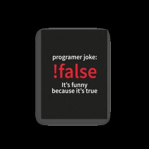 !false - programmer joke (canvas) - Programming Tshirt, Hoodie, Longsleeve, Caps, Case - Tee++