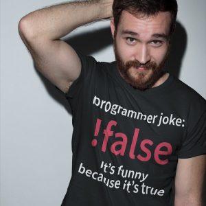 !false - Programmer joke - Programming Tshirt, Hoodie, Longsleeve, Caps, Case - Tee++